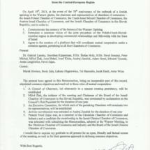 Memorandum Izb Handlowych Europy Centralnej i Izraela